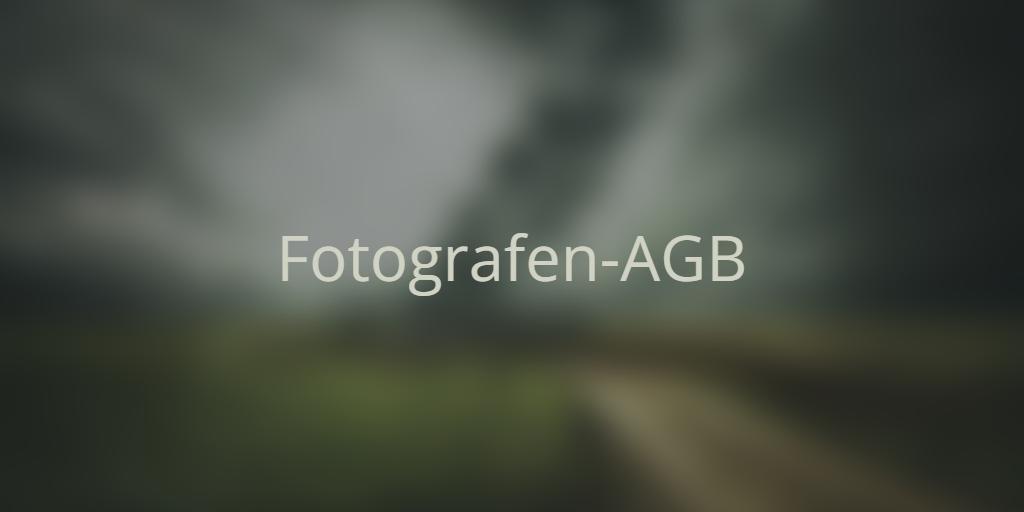 Fotografen-AGB